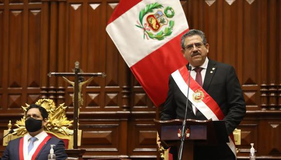 """Merino de Lama afirmó que la vacancia del ahora expresidente Martín Vizcarra se produjo """"sin arreglos bajo la mesa"""". (Foto: Congreso)"""