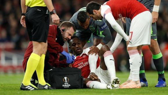 Arsenal perdió al jugador británico en el primer tiempo. (Foto: Reuters)