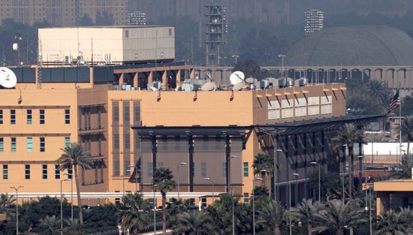 Vista de la Embajada estadounidense en la Zona Verde de Bagdad. (Foto: Reuters)