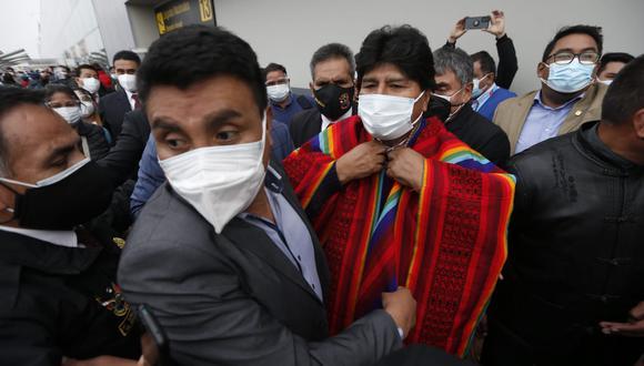 Evo Morales se encuentra en el Perú para participar en la asunción de mando del presidente Pedro Castillo (Foto: Jorge Cerdán/Diario El Comercio)