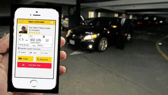 Hasta ocho empresas de taxi online operan en el Perú
