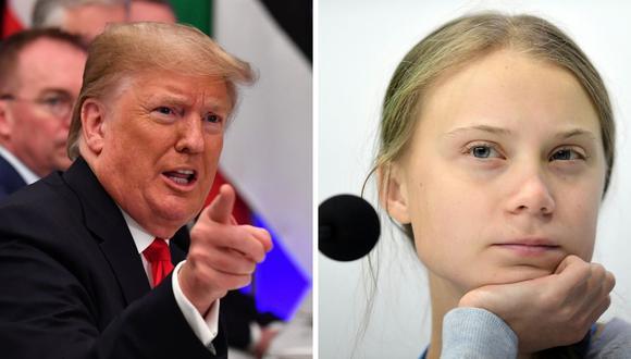 """El mandatario afirmó que la designación de """"personaje del año"""" a Greta Thunberg es ridículo. (Foto: AFP)"""