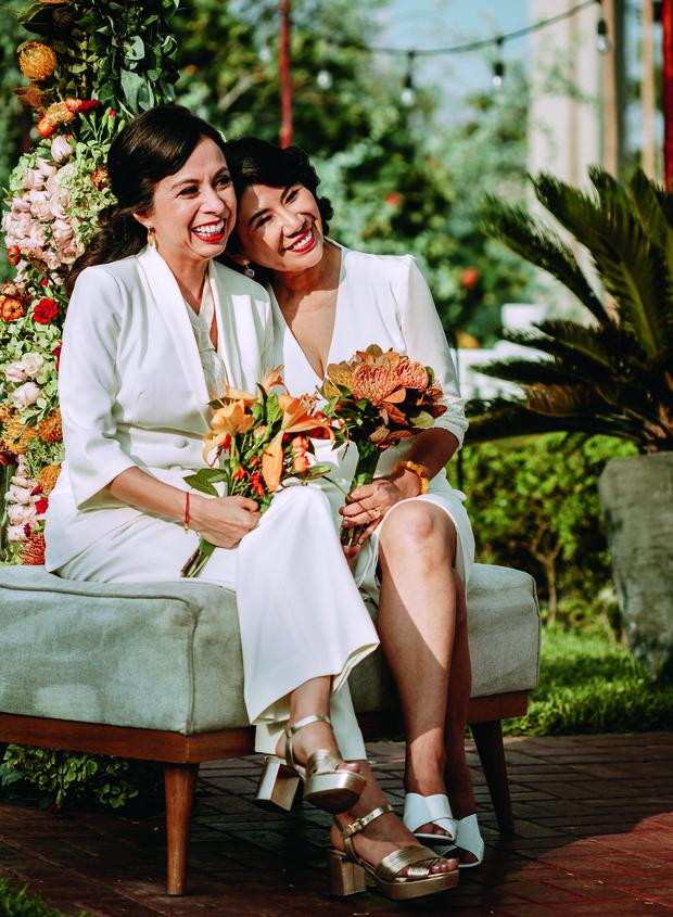 In 2019, Patricia Castro married her lifelong boyfriend Diana Pita, and they both met while in college.  They both live in China today.