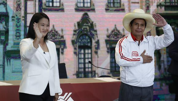Los candidatos a la presidencia de la República, Keiko Fujimori y Pedro Castillo. (Fotos Hugo Pérez | GEC)