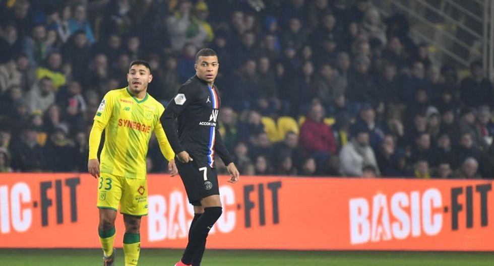 Percy Prado marcando a Mbappé. (Foto: Nantes)