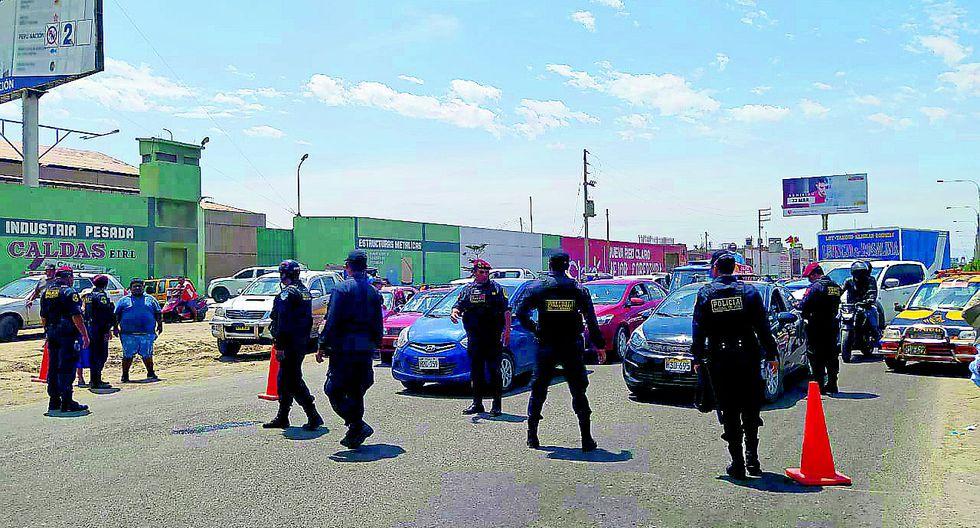 Policía no permitió tránsito de vehículos