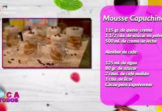Mousse de cappuccino: receta fácil y económica