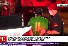 Coronavirus en Perú: Policía intervino a personas que bebían licor en el Callao