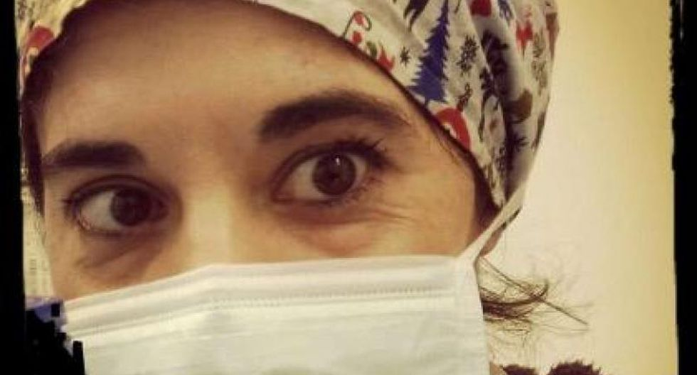 """Daniela Trezzi estaba sufriendo """"mucho estrés"""" al pensar que podría estar propagando el virus a los pacientes (Foto: Facebook)"""