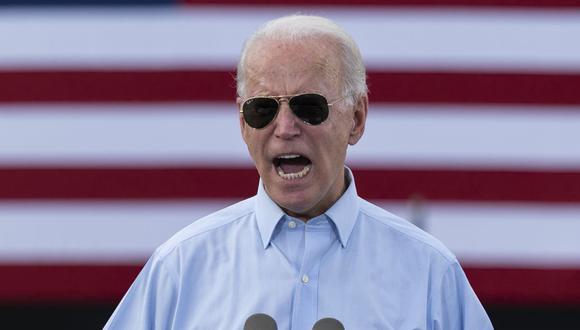 El candidato presidencial demócrata y exvicepresidente de Estados Unidos, Joe Biden, pronuncia un discurso en Coconut Creek, Florida, el 29 de octubre de 2020. (Foto de JIM WATSON / AFP).
