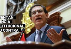 Martín Vizcarra: Presentan denuncia constitucional que plantea 10 años de inhabilitación para cargos públicos