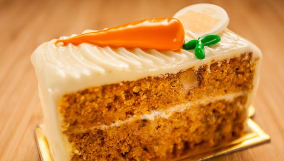 Queque de zanahoria. (Foto: Shutterstock)