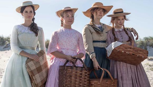 La película de Greta Gerwig fue candidata a mejor película en los últimos Óscar, pero no a mejor directora. Solo se llevó el premio a mejor vestuario. En la foto Meg (Emma Watson), Amy (Florence Pugh), Jo (Saorsie Ronan) y Beth (Eliza Scanlen).