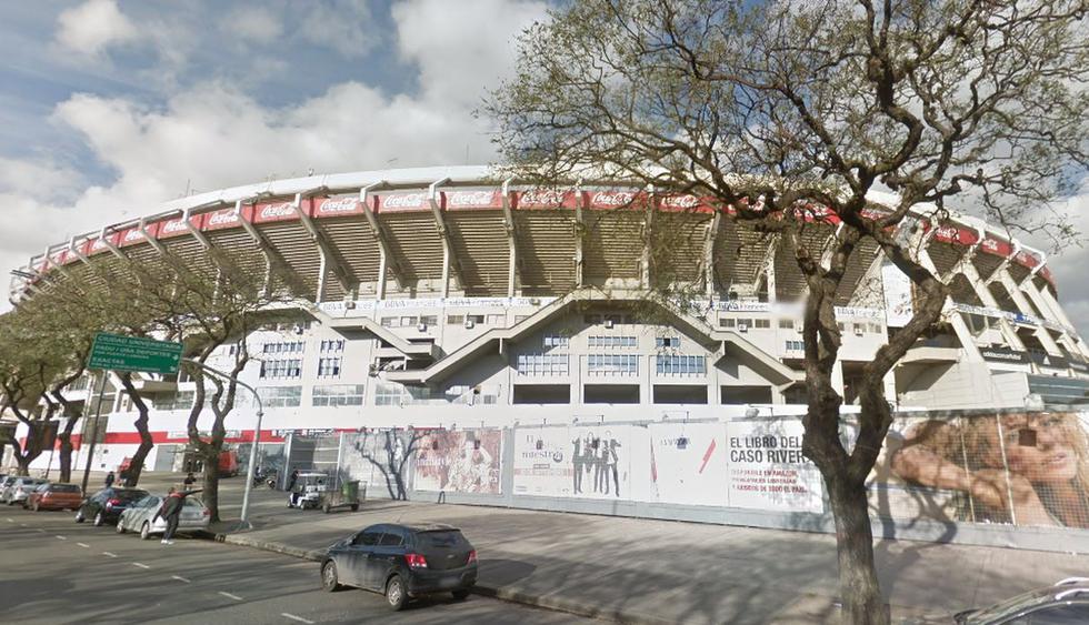 En Google Maps puedes hacer un recorrido por el estadio Monumental de Núñez, escenario del clásico River vs Boca a jugarse este domingo 1 de septiembre   Foto: Google Street View