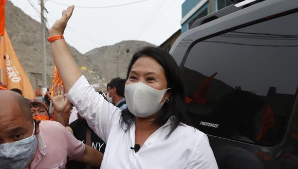 La candidata presidencial de Fuerza Popular, Keiko Fujimori, requiere del permiso de un juez para salir de Lima (Foto: Hugo Pérez/GEC)