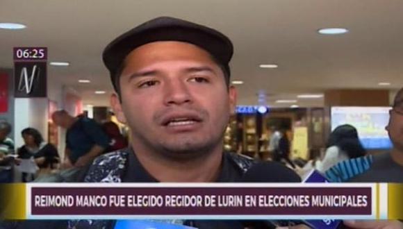 Reymond Manco compartirá la cancha deportiva con el palacio municipal de Lurin. (Foto: Captura de video / Canal N)