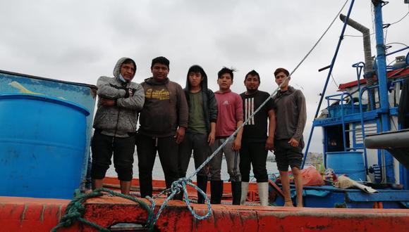 Los seis pescadores se encuentran en buen estado de salud. (Foto: Dirección General de Capitanías y Guardacostas)