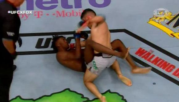 Mcgregor vs. Khabib: impresionante KO en la pelea preliminar de la UFC 229   Foto: captura