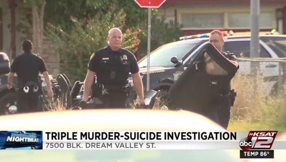 En San Antonio, Texas, se registró un aparente triple homicidio con arma de fuego. La policía investiga el caso. (Foto: Captura)