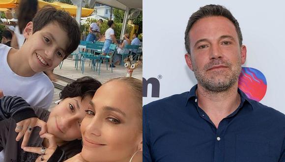 Jennifer Lopez y Ben Affleck están disfrutando de su amor y de ser una familia junto a todos sus hijos. (Foto: @jlo Instagram / AFP / Composición)