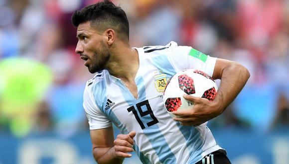 Agüero llegó a Argentina previo al partido ante Chile, pero por precaución no viajó a Santiago del Estero. (Foto: AFA)
