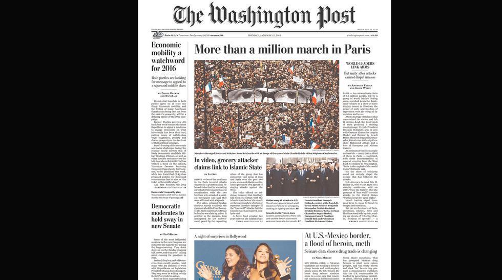 La histórica marcha en Francia en las portadas del mundo - 7