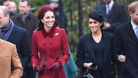 Las duquesas Meghan Markle y Kate Middleton. (Foto: AFP)