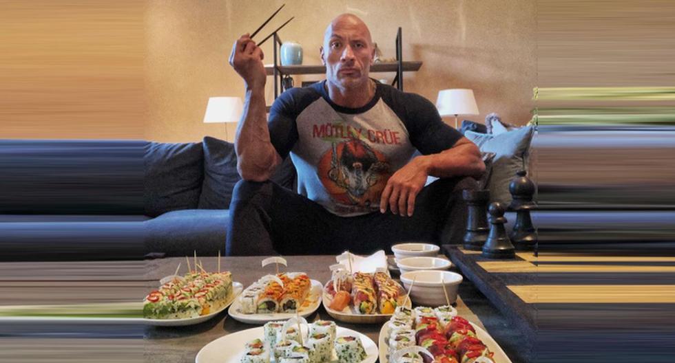 El actor reveló que come más de 90 piezas de sushi él solo. (Foto: @therock)