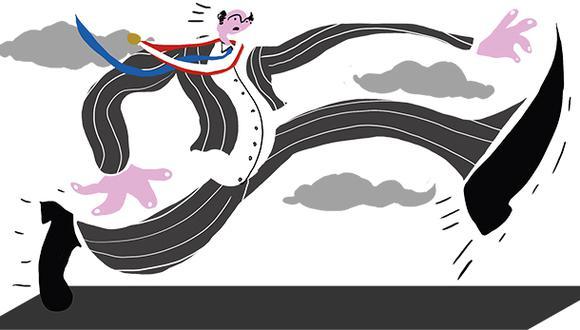 """""""Simplificando, el Congreso actual tiene dos modalidades de legislar. Una que podríamos llamar 'súper fast track' y la otra, el 'casi sin track'"""". (Ilustración: Giovanni Tazza)."""