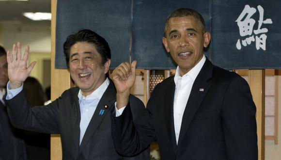 Obama llega a Tokio y en su primera parada se va a comer sushi