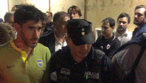 Pablo Pérez dejó el vestuario de Boca Junior (Foto: Captura Sportcenter)