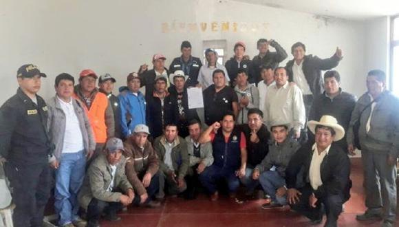 La reunión que se celebró la mañana del sábado en Otuzco. (Foto: Minagri)