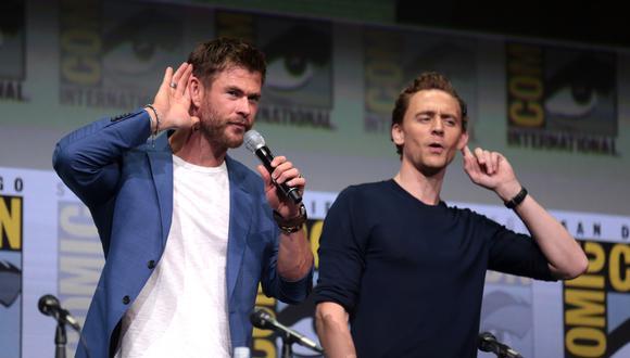 Tom Hiddleston y Chris Hemsworth, Loki y Thor, son grandes amigos y han trabajado juntos en varias oportunidades. (Foto: Marvel).