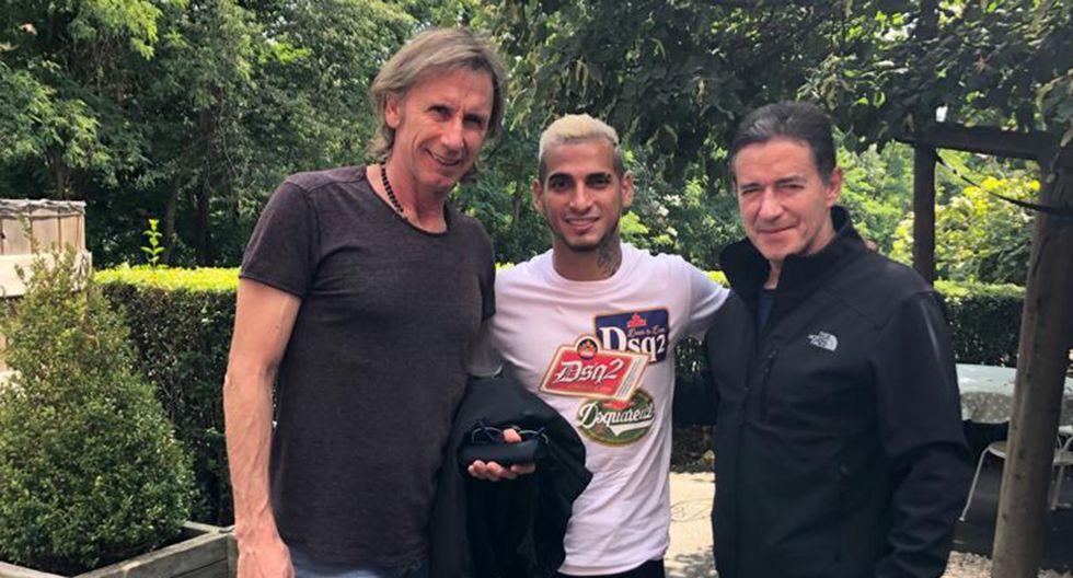 Miguel Trauco se reunió con Ricardo Gareca y Sergio Santín. (Foto: Selección Peruana)