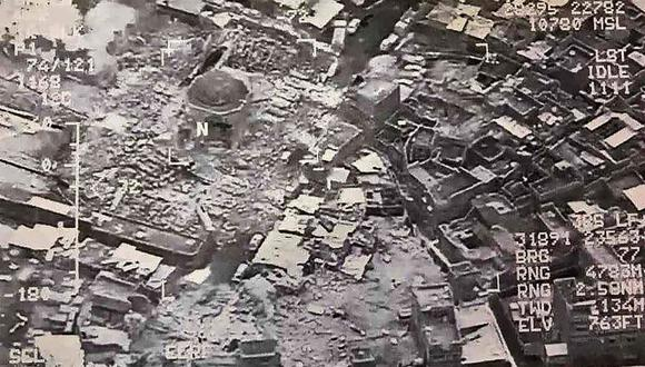 La mezquita de Al Nuri fue construida en 1172. Hoy la destruyó el Estado Islámico. (AFP).