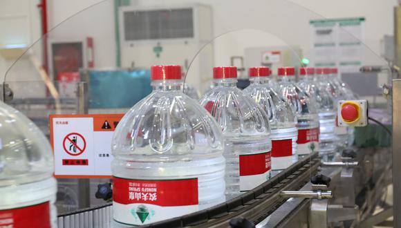 Imagen del Facebook de Tech-Long, quienes trabajan con la fábrica de Nongfu Spring. (Facebook: Tech-Long)