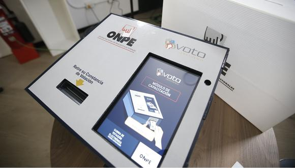 Así será el módulo para emitir el voto electrónico. (Foto: Mario Zapata/ GEC)