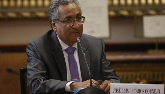 El presidente del Poder Judicial, José Luis Lecaros, se presentó ante la Comisión de Justicia del Congreso este viernes. (Foto: Difusión)