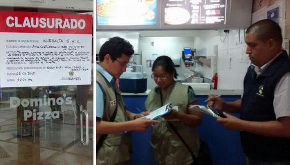 Domino's Pizza: La Molina clausuró local de Av. Constructores