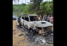 Vraem: comuneros queman un vehículo y retienen a un grupo de policías