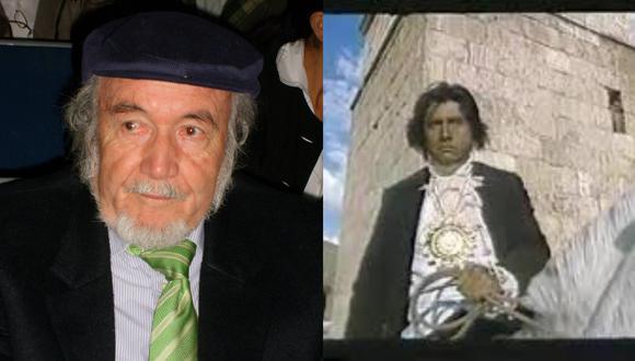 Federico García (Cusco, 1937) es recordado como un intelectual que amaba su tierra. Él falleció a los 83 años. Fotos: Archivo Familiar/ Película Túpac Amaru.