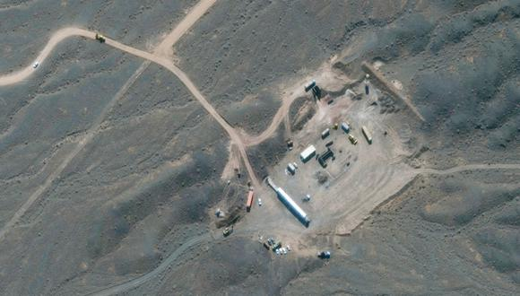 Esta imagen de satélite proporcionada por Maxar Technologies el 28 de enero de 2020 muestra la instalación nuclear de Natanz en Irán, al sur de la capital, Teherán. (Foto: AFP).
