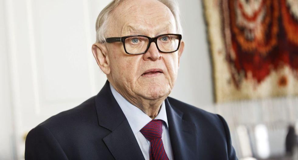 El expresidente finlandés y premio Nobel de la Paz Martti Ahtisaari, de 82 años, es portador del coronavirus. (Foto: AFP/Roni Rekomaa)