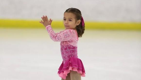 Esta pequeña podría ser la próxima campeona olímpica de patinaje sobre hielo (Foto: Newsweek)
