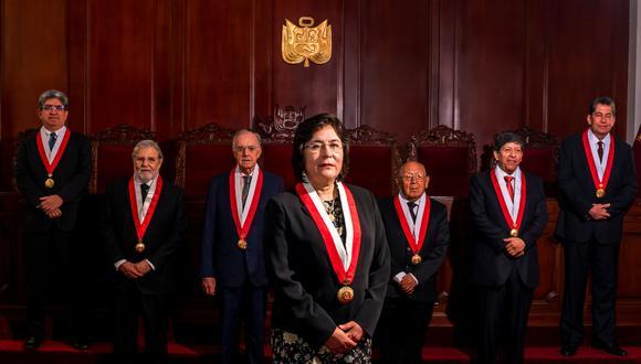 Marianella Ledesma preside actualmente el Tribunal Constitucional. Solo uno de los siete miembros de la institución tiene mandato vigente. (Foto: GEC)