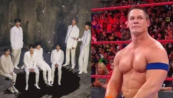 En una reciente entrevista BTS declaró que son fan de John Cena (Foto: Composición)