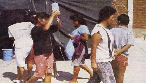 Una imagen del Archivo histórico de El Comercio de la pandemia del cólera en los 90. (Foto: El Comercio)