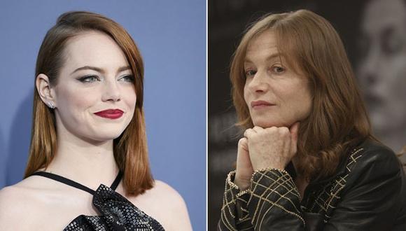 Emma Stone e Isabelle Huppert: duelo de estilos en los Oscar