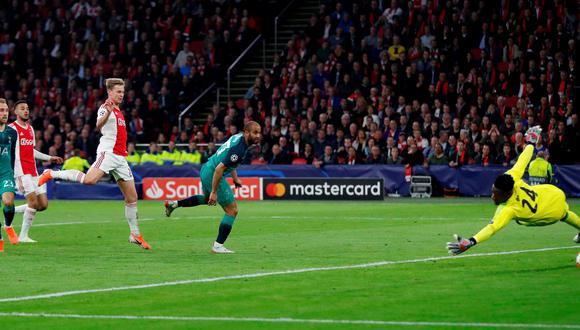 Ajax vs. Tottenham: Lucas Moura acercó a los 'Spurs' con este golazo en las semifinales de la Champions League. (Foto: Reuters)