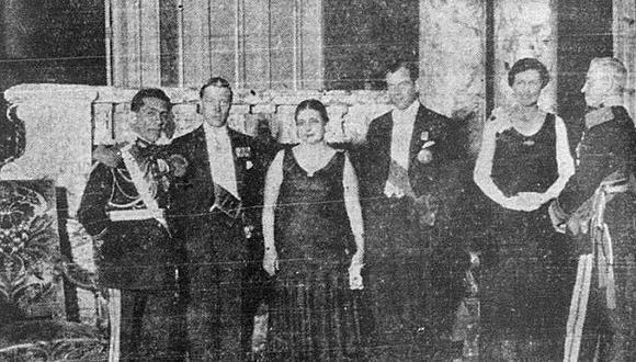 En la noche del 11 de febrero de 1931, el Príncipe de Gales y futuro rey de Inglaterra y su hermano Jorge participaron en Palacio de Gobierno de una gran banquete ofrecido por el jefe de la Junta Gobierno, Luis M. Sánchez Cerro. Este llevaba solo seis meses en el poder.  (Foto: GEC Archivo Histórico)